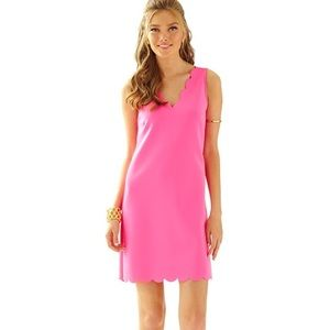 Lilly Pulitzer Neon Pink Scallop Dress
